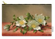 Cherokee Roses Carry-all Pouch by Martin Johnson Heade