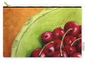 Cherries Green Plate Carry-all Pouch
