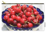 Cherries In Blue Bowl Carry-all Pouch