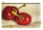 Cherries On White Carry-all Pouch