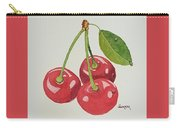 Cherry Times Three Carry-all Pouch