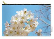Cherry Blossom And A Bee Carry-all Pouch