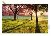 Cherry Blossom In A Park At Dawn Carry-all Pouch