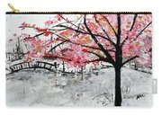 Cherry Blossoms And Bridge Meadowlark Botanical Gardens 201728 Carry-all Pouch