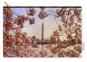 Cherry Blossoms And The Washington Monument Carry-all Pouch by Lois Bryan
