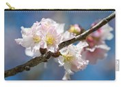 Cherry Blossoms On Blue Carry-all Pouch