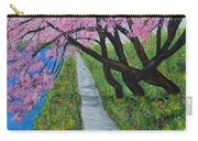 Cherry Trees- Pink Blossoms- Landscape Painting Carry-all Pouch