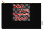 Chess Board Eat Sleep Checkmate Repeat Chess Player Gift Carry-all Pouch