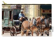 Chestnut Horses Pulling Carriage Carry-all Pouch