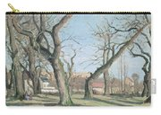 Chestnut Trees At Louveciennes Carry-all Pouch by Camille Pissarro