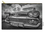 Chevrolet Biscayne 1958 In Black And White Carry-all Pouch