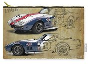 Chevrolet Corvette Convertible L88 1968,original Fast Race Car. Two Drawings, One Print Carry-all Pouch