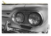 Chevy Corvair Headights And Bumper Black And White Carry-all Pouch