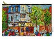 Chez Vito Rue Fairmount Landmark Architecture Beautiful Summer Scene Montreal 375 Carole Spandau Art Carry-all Pouch