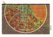 Chicago 1957 Old Map, Chicago Frank Lloyd Wright Quote Carry-all Pouch