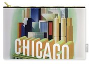 Chicago American Airlines 1950 Carry-all Pouch