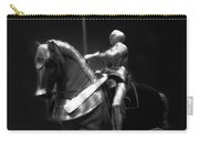 Chicago Art Institute Armored Knight And Horse Bw 01 Carry-all Pouch
