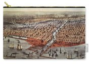 Chicago As It Was Carry-all Pouch by Currier and Ives