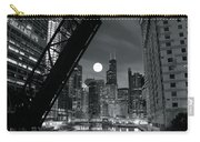 Chicago Black And White Nights Carry-all Pouch