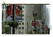 Chicago Blackhawk Flags Carry-all Pouch