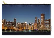 Chicago Downtown Skyline At Night Carry-all Pouch