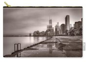 Chicago Foggy Lakefront Bw Carry-all Pouch