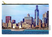 Chicago Il - Schooner Against Chicago Skyline Carry-all Pouch