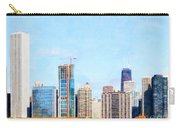 Chicago Illinois Skyline Painterly Triptych Plate Three Of Three 20180516 Carry-all Pouch