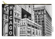 Chicago In Black And White Carry-all Pouch