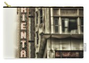 Chicago In November Oriental Theater Signage Vertical Carry-all Pouch