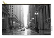 Chicago In The Rain B-w Carry-all Pouch