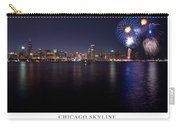 Chicago Lakefront Skyline Poster Carry-all Pouch by Steve Gadomski