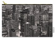 Chicago Loop Sundown B And W Carry-all Pouch by Steve Gadomski