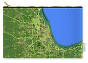 Chicago Map, Old Map, Abstract, Abstract Art, Blue, Blue And Purple Art Carry-all Pouch