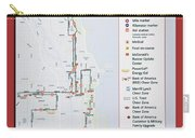 Chicago Marathon Race Day Route Map 2014 Carry-all Pouch