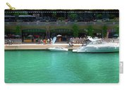 Chicago Parked On The River Walk Panorama 01 Carry-all Pouch