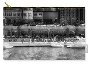 Chicago Parked On The River Walk Panorama 02 Bw Carry-all Pouch