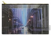 Chicago Rainy Street Expanded Carry-all Pouch by Anita Burgermeister