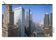 Chicago River, Aerial Shot, Illinois Carry-all Pouch