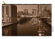 Chicago River B And W Carry-all Pouch by Steve Gadomski