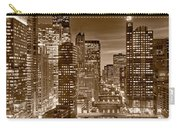 Chicago River City View B And W Carry-all Pouch