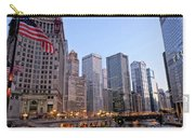 Chicago River From The Michigan Avenue Bridge Carry-all Pouch
