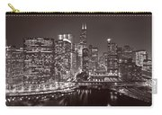 Chicago River Panorama B W Carry-all Pouch