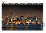 Chicago Skyline At Night Extra Wide Panorama Carry-all Pouch