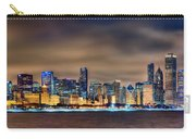 Chicago Skyline At Night Panorama Color 1 To 3 Ratio Carry-all Pouch