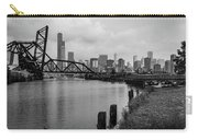 Chicago Skyline From The Southside In Black And White Carry-all Pouch