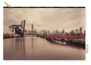 Chicago Skyline From The Southside With Red Bridge Carry-all Pouch