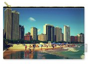 Chicago Summer Skyline At Oak Street Beach Carry-all Pouch