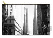 Chicago Street With Flags B-w Carry-all Pouch