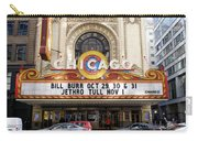 Chicago Theater Marquee Jethro Tull Signage Carry-all Pouch